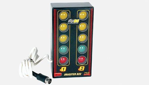 Dragsterbox 2-spurig m.Startampel+Kabelsatz