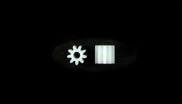 Motorritzel 9Z f.Ø2,0mm Plastik