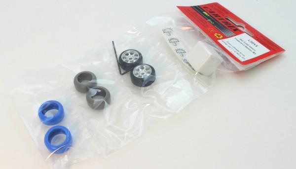 Slip-Control-Set Reifen Typ 1 Dry/Rain/Ice - 3 Paar m.2 Alufelgen u.Würfel