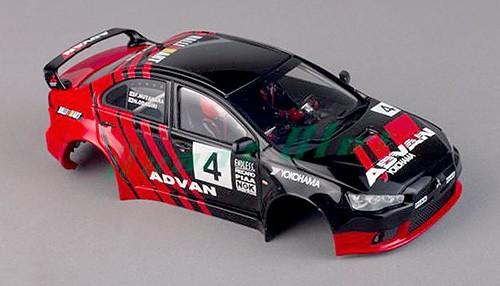 Karosserie Mitsubishi Evo lackiert m.Deco