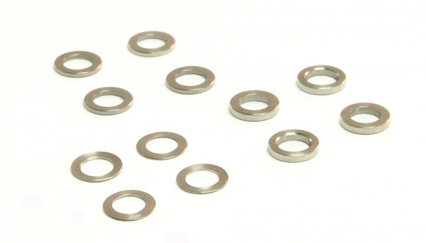 Achsdistanzen 3/32 Sortiment 0,12-0,62mm Stahl f.Ø2,38mm