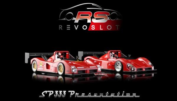 Slotcar 1:32 analog REVOSLOT Twin-Pack 333SP Edition Box m.2 Autos