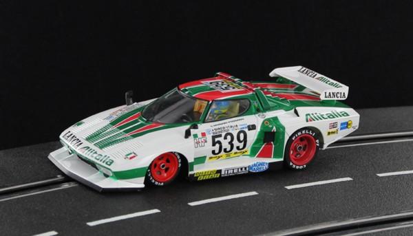 Slotcar 1:32 analog SIDEWAYS Stratos Turbo Giro D`Italia 1977 No. 539