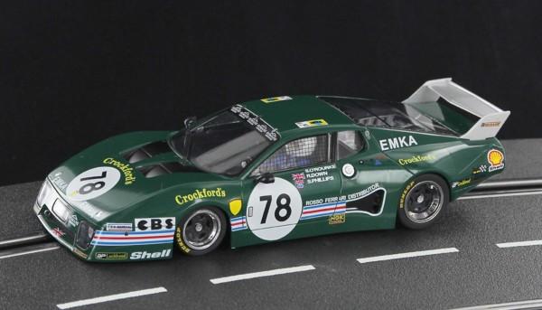 Slotcar 1:32 analog SIDEWAYS 512BB Le Mans 1980 No. 78