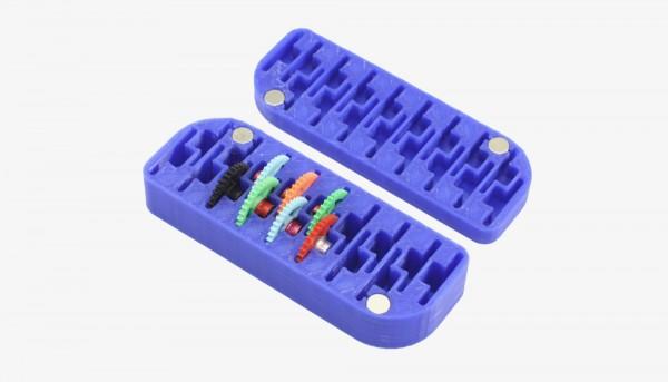 Aufbewahrungsbox 3DP Gear Storage Spur-/Schrägzahnräder Ø18mm f.Slotcars 1:32