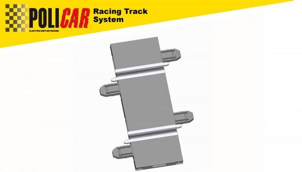 Gerade 61,4mm f.Autorennbahn 1:32 POLICAR Slotcar Racing Track System