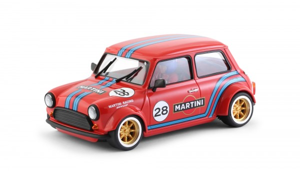 Slotcar 1:24 analog Cooper No. 28 Red Edition