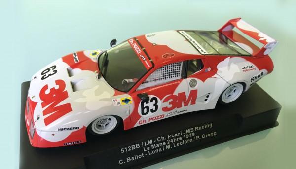Slotcar 1:32 analog SIDEWAYS 512BB Le Mans 1979 No. 63
