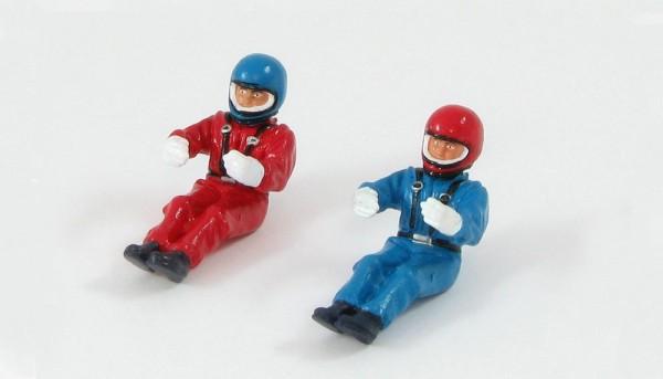 Fahrer-Set 39 lackiert blau u.rot f.Celica etc.