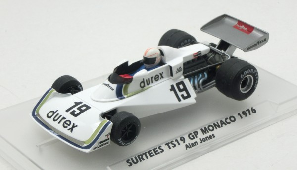 Slotcar 1:32 analog FLY TS19 Grand Prix Monaco 1976 No. 19 Platinium Edition