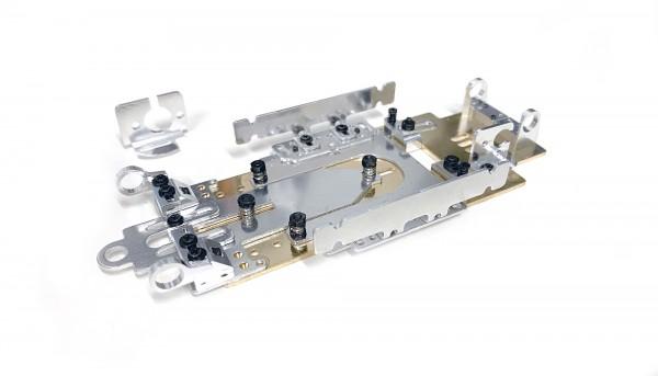Fahrwerk Super24 Sport Medium Wheelbase m.Messing-Grundplatte 106,5x1,5mm f.13D u.18D Motoren