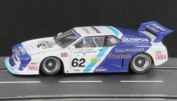 Slotcar 1:32 analog SIDEWAYS M1 Le Mans 1982 No. 62
