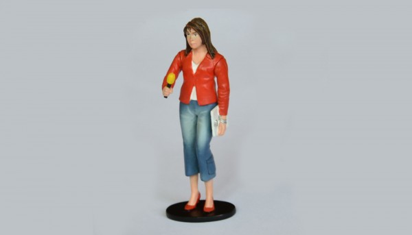 Modellfigur 1:32 LE MANS MINIATURES Journalistin m.Mikrofon High Detail Resin Collectors Edition