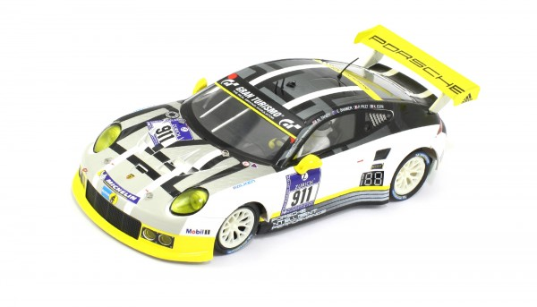 Slotcar 1:32 analog SCALEAUTO 911 GT3 RSR Nürburgring 2016 No. 911