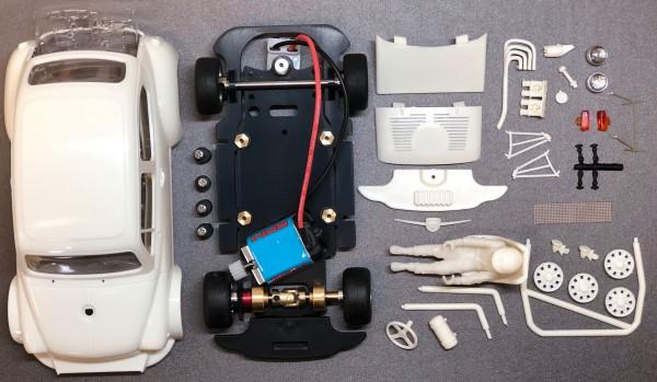 Slotcar 1:24 Bausatz analog TCR weiß