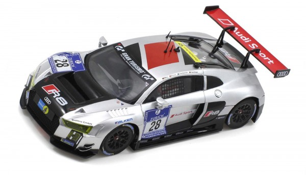 Slotcar 1:24 analog Bausatz SCALEAUTO Racing-RC2 Competition LMS GT3 Nürburgring 2015 No. 28 White Kit m.Beklebungssatz