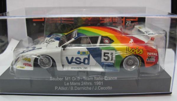Slotcar 1:32 analog SIDEWAYS M1 Le Mans 1981 No. 51