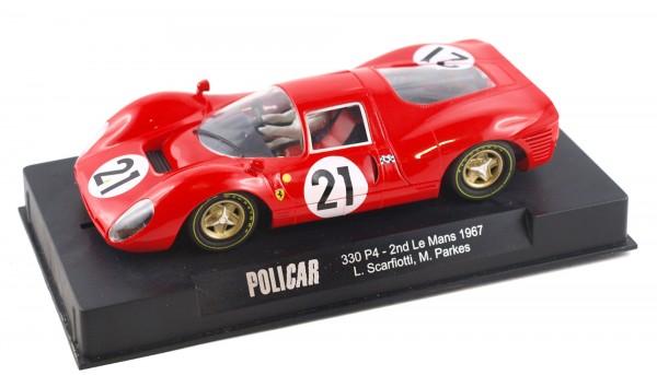 Slotcar 1:32 analog POLICAR 330P4 Le Mans 1967 No. 21