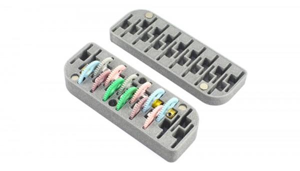 Aufbewahrungsbox 3DP Gear Storage Spur-/Schrägzahnräder f.Slotcars 1:24
