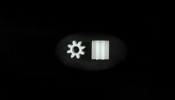 Motorritzel 8Z M50 Plastik f.Ø2,0mm