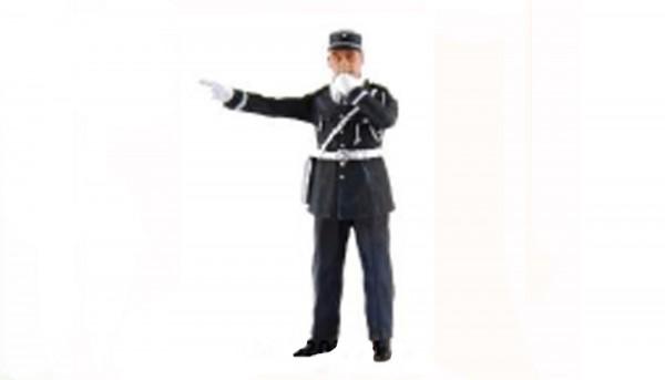 Modellfigur 1:32 LE MANS MINIATURES Gendarm Andre m.Trillerpfeife High Detail Resin Collectors Edition