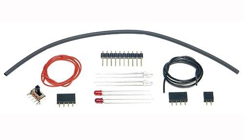 Montagezubehör m.LEDs, Kabel, Stecker u.Microschalter f.Fahrzeugbeleuchtung