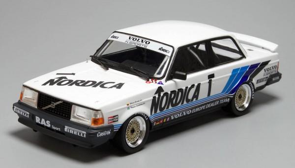 Standmodellbausatz 1:24 NUNU Volvo 240 Turbo Hockenheim 1986 No. 1