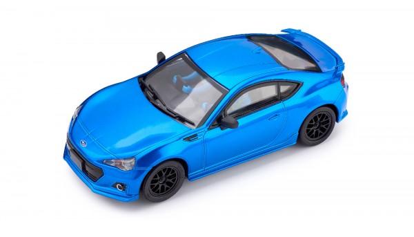Slotcar 1:32 analog POLICAR Home Racers BRZ GT blaumetallic m.Licht