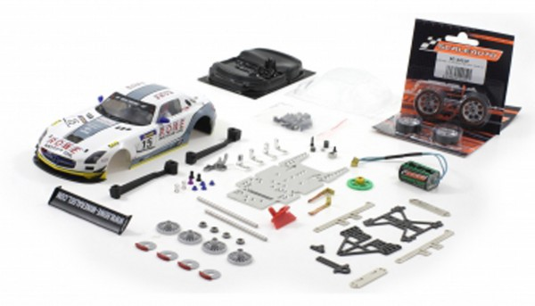 Slotcar 1:24 Bausatz analog Racing-RC2 Competition SLS GT3 Nürburgring 2011 No. 15