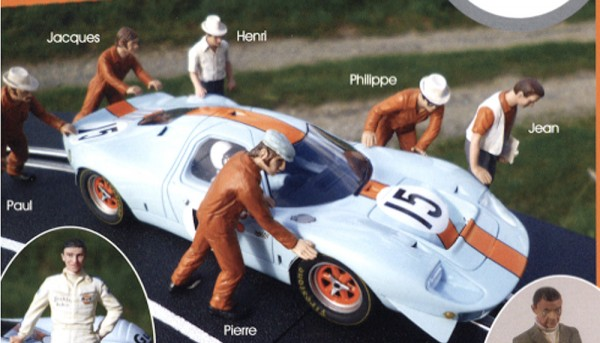 Modellfigur 1:32 LE MANS MINIATURES Mechaniker Pierre High Resin Detail Collectors Edition