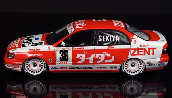Standmodellbausatz 1:24 BEEMAX Toyota Corona ST191 JTCC 1994 No. 36 & 37