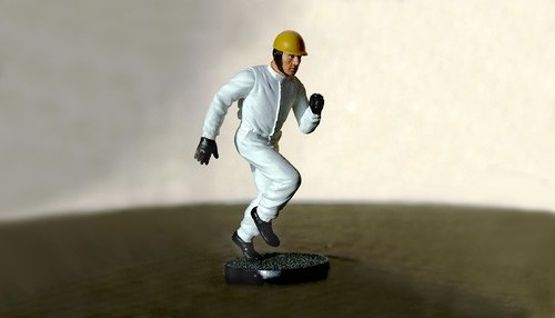 Modellfigur 1:32 LE MANS MINIATURES Rennfahrer 50-60er Jahre laufend High Detail Resin Collectors Edition