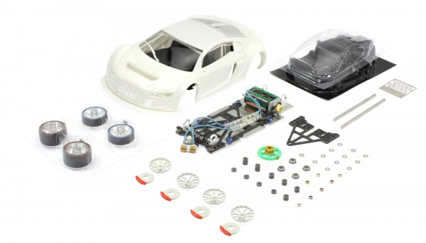 Slotcar 1:24 analog Bausatz SCALEAUTO Racing-RC2 Competition LMS GT3 White Kit