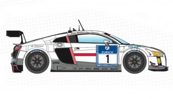 Slotcar 1:24 analog SCALEAUTO LMS Evo GT3 Nürburgring 2016 No. 28