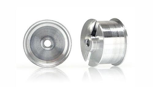 Felgen Slot.it Ø15,8mm-Typ Sponge hinten Ø13,6x9,5x1,5mm f.Moosgummireifen Aluminium m.Madenschrauben (ex WH1211AL) f.Slotcars 1:32