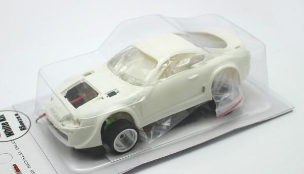 Slotcar 1:32 analog Bausatz REVOSLOT Supra White Kit Typ B m.Seitenspoiler