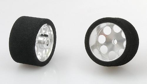 Räder Black Magic Ø24,4x16mm f.Ø3mm Moosgummi m.18mm Alufelge u.Innensechskant