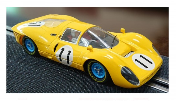 Slotcar 1:32 analog POLICAR 412 P Spa 1967 No. 11