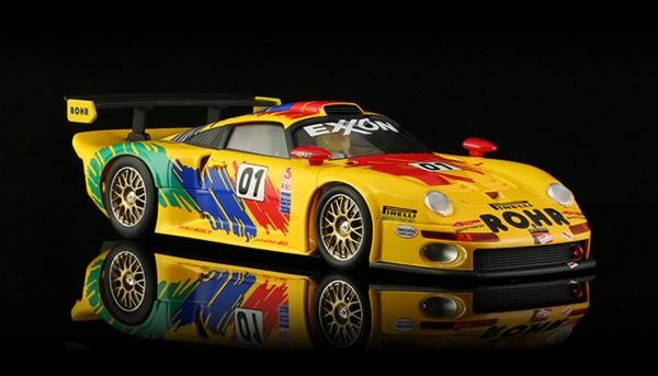Slotcar 1:24 analog BRM GT1 Mosport 1997 No. 01