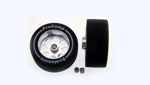 Räder ProComp Ø25,5x11mm f.Ø3mm Moosgummi soft m.17mm Alufelge u.Innensechskant