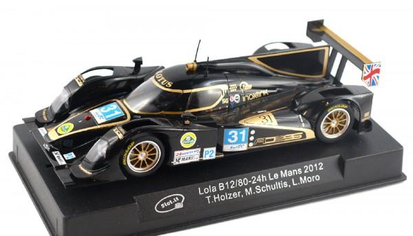 Slotcar 1:32 digital Lola B12/80 Le Mans 2012 No. 31 m.Decoder f.Scalextric Digital SSD