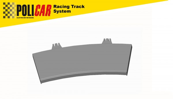 Randstreifen Kurve Radius 3/22,5° innen f.Autorennbahn 1:32 POLICAR Slotcar Racing Track System