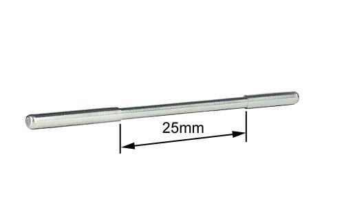 Blankachsen Ø2,38x48mm Stahl m.reduziertem Mittelteil f.Side- u.Anglewinder