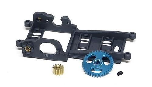 Fahrwerksumbau-Set Slot.it Pro Sidewinder Motorhalter u.Hinterachsträger Offset 0,5mm f.Motor V12 m.34Z Spurzahnrad f.Slotcars 1:32