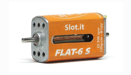 Motor Slot.it Flat-6S/22,5K (22500U@12V) Flat-Can f.Slotcars 1:32