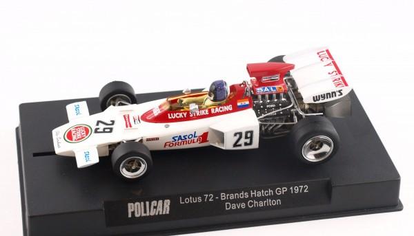 Slotcar 1:32 analog POLICAR 72D Brands Hatch 1972 No. 29