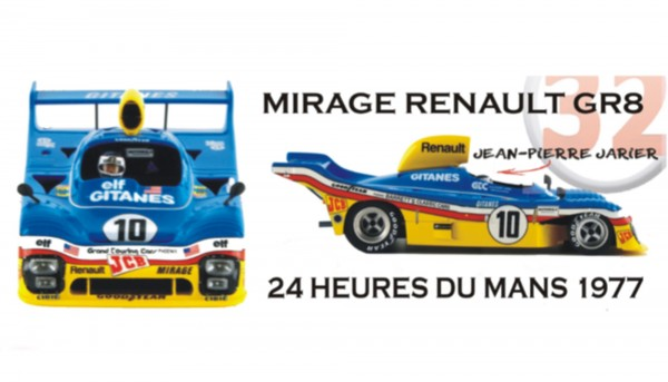 Slotcar 1:32 analog LE MANS MINIATURES Mirage GR8 Le Mans 1977 No. 10 High Detail Resin Collectors Edition