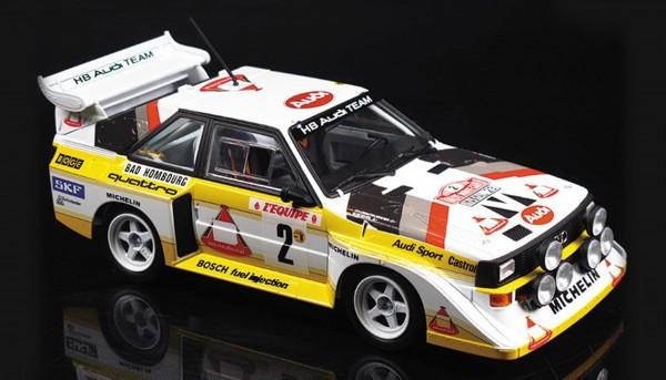 Standmodellbausatz Audi Quattro S1 HB Team Audi Rallye Monte Carlo 1986 No. 2