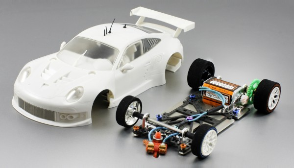 Slotcar 1:24 Bausatz analog SCALEAUTO Racing-RC2 Competition P991 RSR White Kit