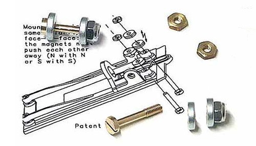 Zubehör Slot.it Fahrwerksdämpfung Magnetic Suspension Kit f.Slotcars 1:32
